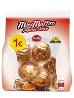 EURO MINI MUFFINS PEPITAS CHOCO 210