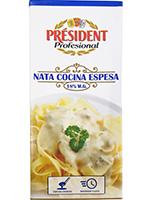 NATA COCINA  18% MG. 1 Litro  PRESIDENT