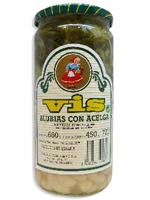 ALUBIAS con BERZA Tarro 1 Kg.  VIS