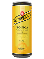 TONICA Lata 330 cc.  SCHWEPPES