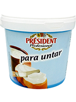 BOTE CREMA QUESO NATURAL 2Kg  PRESIDENT